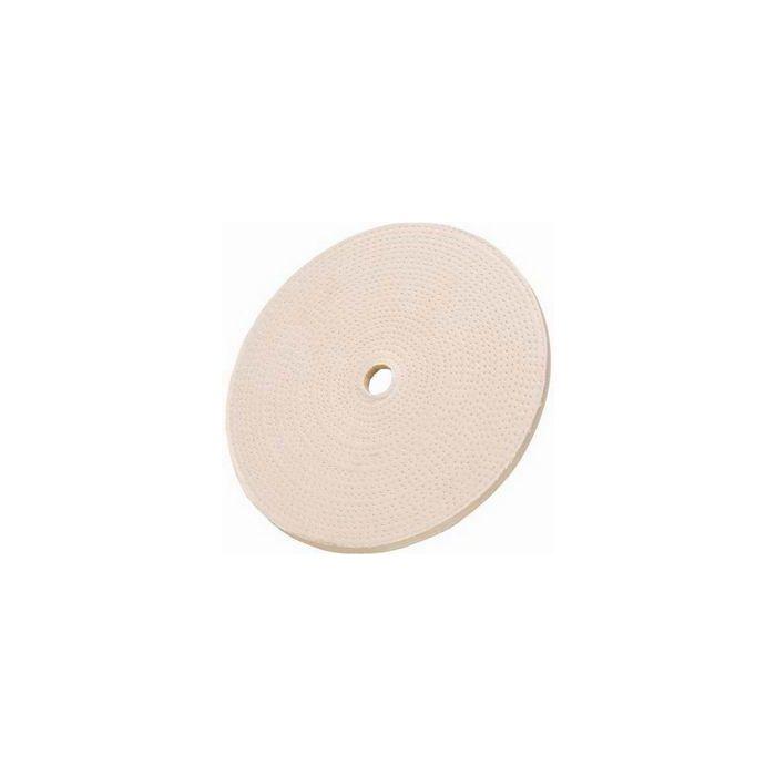 "Spiral Sewn Buffing Wheel 8/"" x 1//2/"" Wide x 1//2/"" Hole 40-Ply Medium Cotton New"