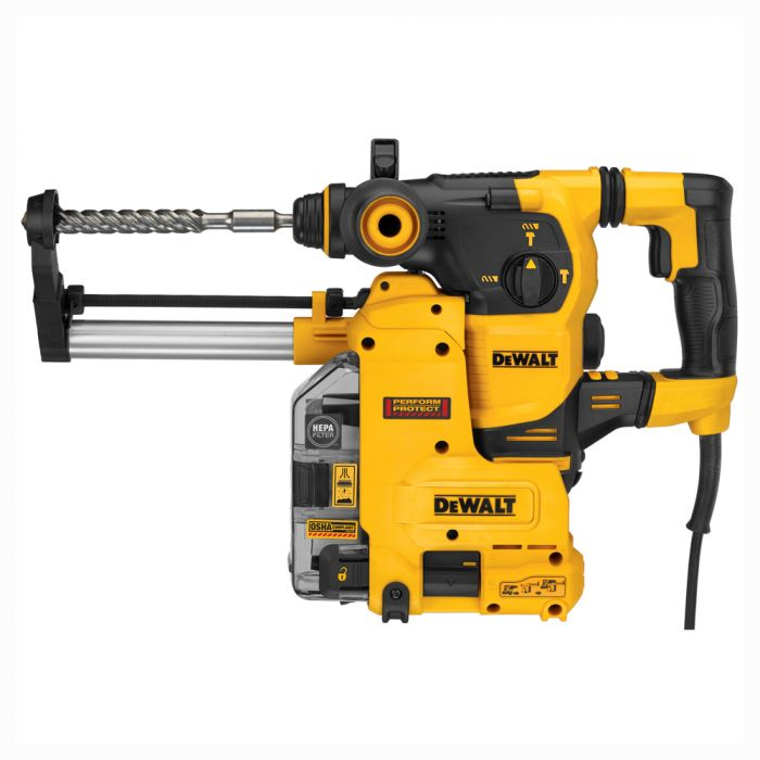 Dewalt Dust Extractor >> Dewalt D25333kdh 1 1 8 Sds Plus Rotary Hammer Kit With Onboard Dust Extractor