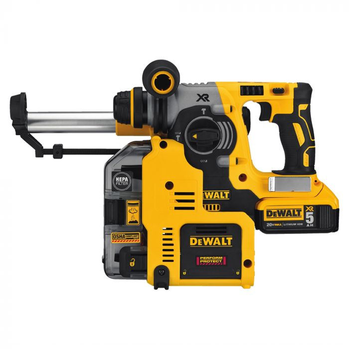 Dewalt Dust Extractor >> Dewalt Dch273p2dho 20v Max Brushless Sds 3 Mode Rotary Hammer With Dust Extractor