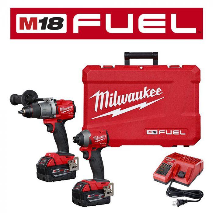 Milwaukee 2997 22 M18 Fuel 18v Cordless 2 Tool Hammer Drill Impact Driver Combo Kit Burnstools