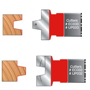 UP032 Freud Wedge Tongue & Groove Cutter